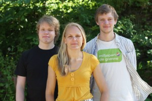 Våre toppkandidater, fv Mattis Ulvang, Liv Derås Bjørnstad og Halvard Sutterud